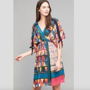 NWT Anthropologie Geo-Printed Dress